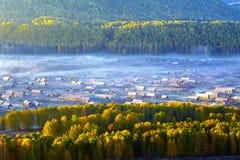 Villaggio di autunno nella porcellana del ¼ di Yunnanï Immagine Stock Libera da Diritti