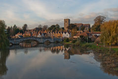 Villaggio di Aylesford e fiume Medway Immagine Stock Libera da Diritti