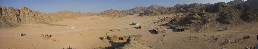 Villaggio di Beduine in montagne in Hurghada Immagine Stock Libera da Diritti
