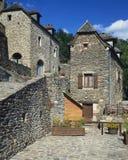 Villaggio di Belcastel - della Francia Immagini Stock