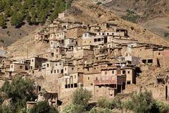 Villaggio di berbero, montagne di atlante, Marocco Fotografie Stock Libere da Diritti