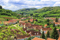 Villaggio di Biertan nella Transilvania immagini stock