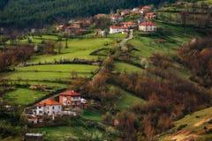 Villaggio di Borovitsa, Rhodopes orientale, Bulgaria Fotografie Stock Libere da Diritti
