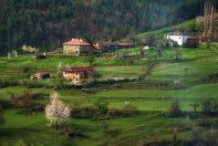 Villaggio di Borovitsa, Rhodopes orientale, Bulgaria Fotografia Stock Libera da Diritti