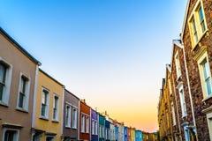 Villaggio di Bristol Clifton ad alba Immagine Stock Libera da Diritti