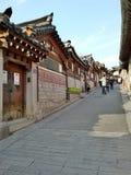 Villaggio di Bukchon Hanok fotografie stock