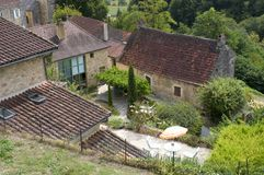 Villaggio di Castelnaud Immagine Stock