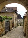 Villaggio di Castelnaud fotografia stock