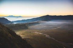 Villaggio di Cemoro Lawang, parco nazionale di Bromo Tengger Semeru fotografia stock