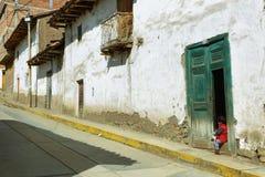 Villaggio di Chacas, Perù Fotografia Stock