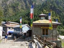 Villaggio di Chame, Nepal Immagine Stock