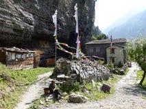 Villaggio di Chame, Nepal Fotografia Stock