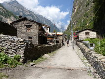 Villaggio di Chame, Nepal Fotografia Stock Libera da Diritti