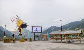 Villaggio di Chatel, attrazione francese in alpi Fotografia Stock