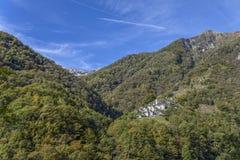 Villaggio di Corippo Fotografie Stock