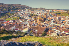 Villaggio di Cortegana, Huelva, Spagna Fotografia Stock Libera da Diritti
