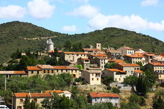 Villaggio di Cucugnan in Francia Immagine Stock Libera da Diritti