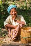Villaggio di Dain Khone della locanda, nel lago Inle, il Myanmar fotografie stock libere da diritti