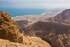 Villaggio di deserto da sopra Fotografia Stock Libera da Diritti