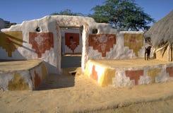 Villaggio di deserto, Jaisalmer Ragiastan Immagine Stock