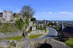 Villaggio di Domfront in Francia Fotografia Stock Libera da Diritti