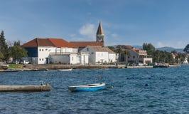 Villaggio di Donja Lastva. Il Montenegro Fotografie Stock Libere da Diritti