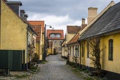 Villaggio di Dragor vicino a Copenhaghen, Danimarca fotografie stock