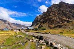 Villaggio di Drass, Kargil, Ladakh, il Jammu e Kashmir, India Immagine Stock Libera da Diritti