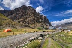 Villaggio di Drass, Kargil, Ladakh, il Jammu e Kashmir, India Fotografia Stock Libera da Diritti