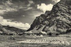 Villaggio di Drass, Kargil, Ladakh, il Jammu e Kashmir, India Fotografie Stock