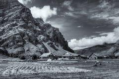 Villaggio di Drass, Kargil, Ladakh, il Jammu e Kashmir, India Immagini Stock