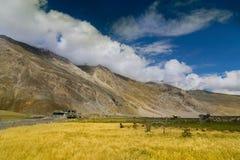Villaggio di Drass, Kargil, Ladkah Fotografia Stock