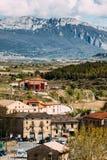 Villaggio di Elciego, spagna Fotografia Stock Libera da Diritti