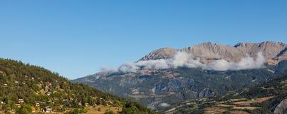 Villaggio di elevata altitudine Fotografia Stock