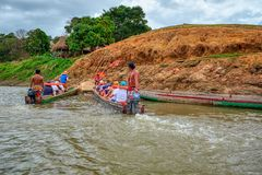 Villaggio di Embera, Chagres, Panama immagine stock libera da diritti
