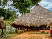 Villaggio di Embera, Chagres, Panama immagini stock libere da diritti