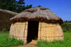 Villaggio di età della pietra Immagine Stock
