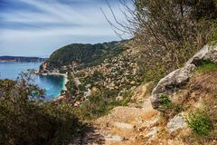 Villaggio di Eze Sur Mer in Francia Fotografie Stock