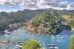 Villaggio di fama mondiale di Portofino Fotografia Stock