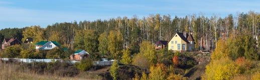 Villaggio di festa in autunno Fotografia Stock Libera da Diritti
