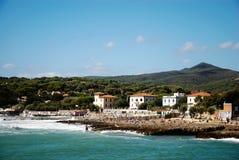 Villaggio di festa della spiaggia Fotografie Stock Libere da Diritti