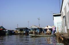 Villaggio di galleggiamento Fotografie Stock