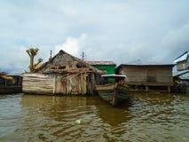 Villaggio di galleggiamento di Belen nel Perù Fotografie Stock Libere da Diritti