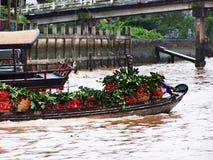 Villaggio di galleggiamento nel Vietnam Fotografia Stock Libera da Diritti