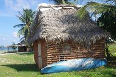 Villaggio di Garifuna nell'Honduras fotografia stock