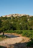 Villaggio di Grambois, Provenza, Francia Fotografia Stock