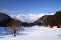 Villaggio di Hakuba nell'inverno Fotografia Stock