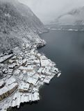 Villaggio di Hallstat in Austria Fotografia Stock Libera da Diritti