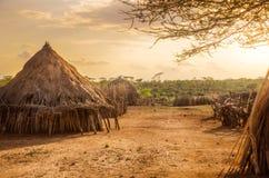Villaggio di Hamer vicino a Turmi, Etiopia Fotografia Stock