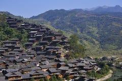 Villaggio di Hmong fotografia stock
